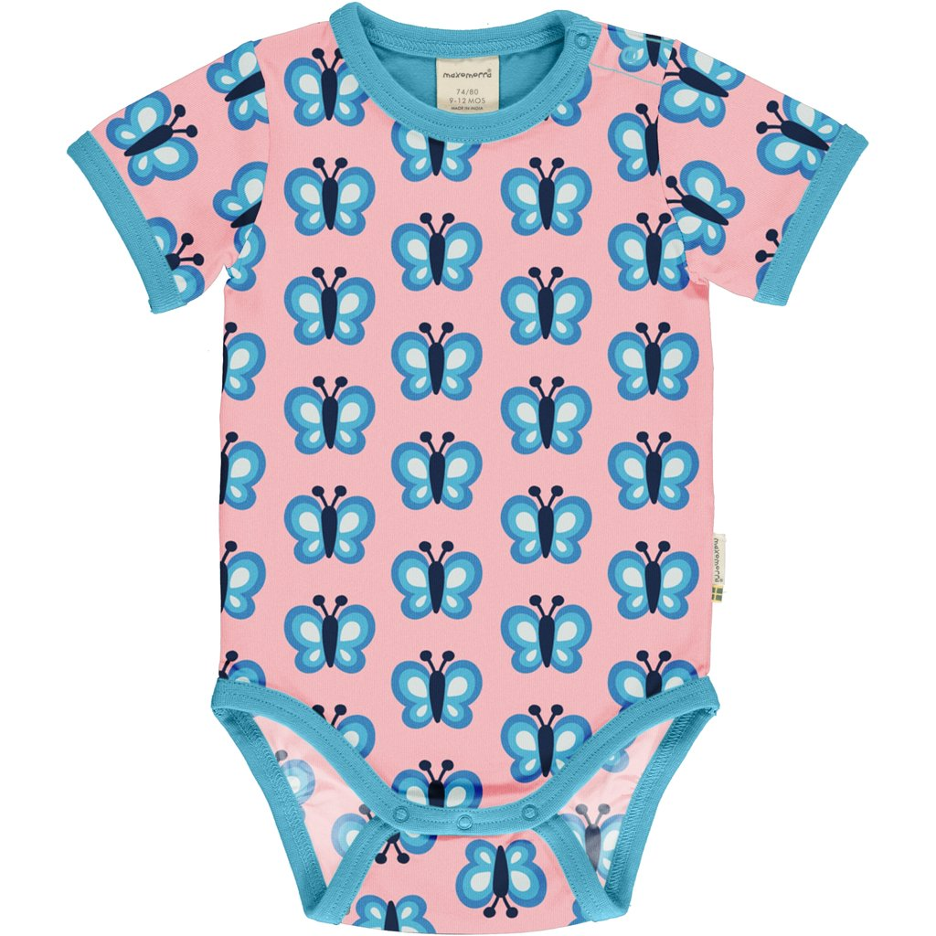 Maxomorra Bluewing Butterfly Short Sleeve Body
