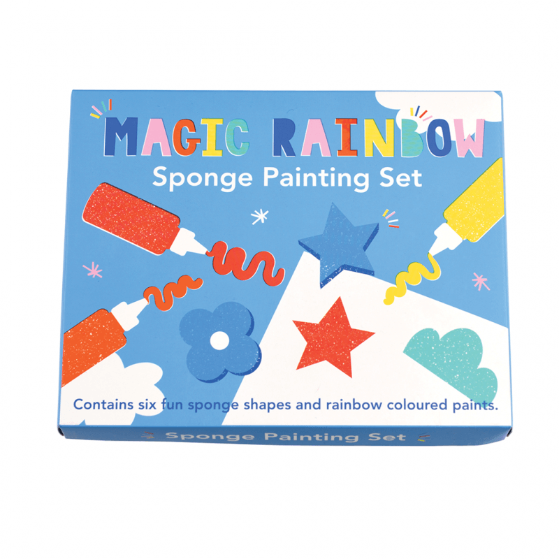 Rex London Magic Rainbow Sponge Painting Set