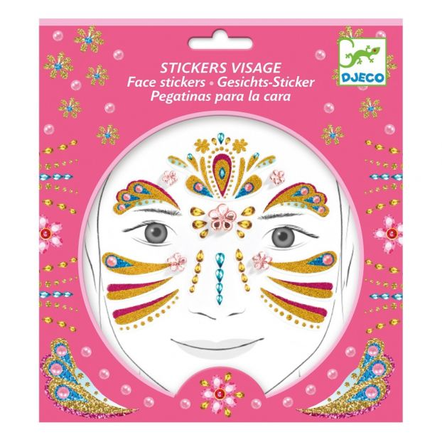 Djeco Gold Princess Face Stickers