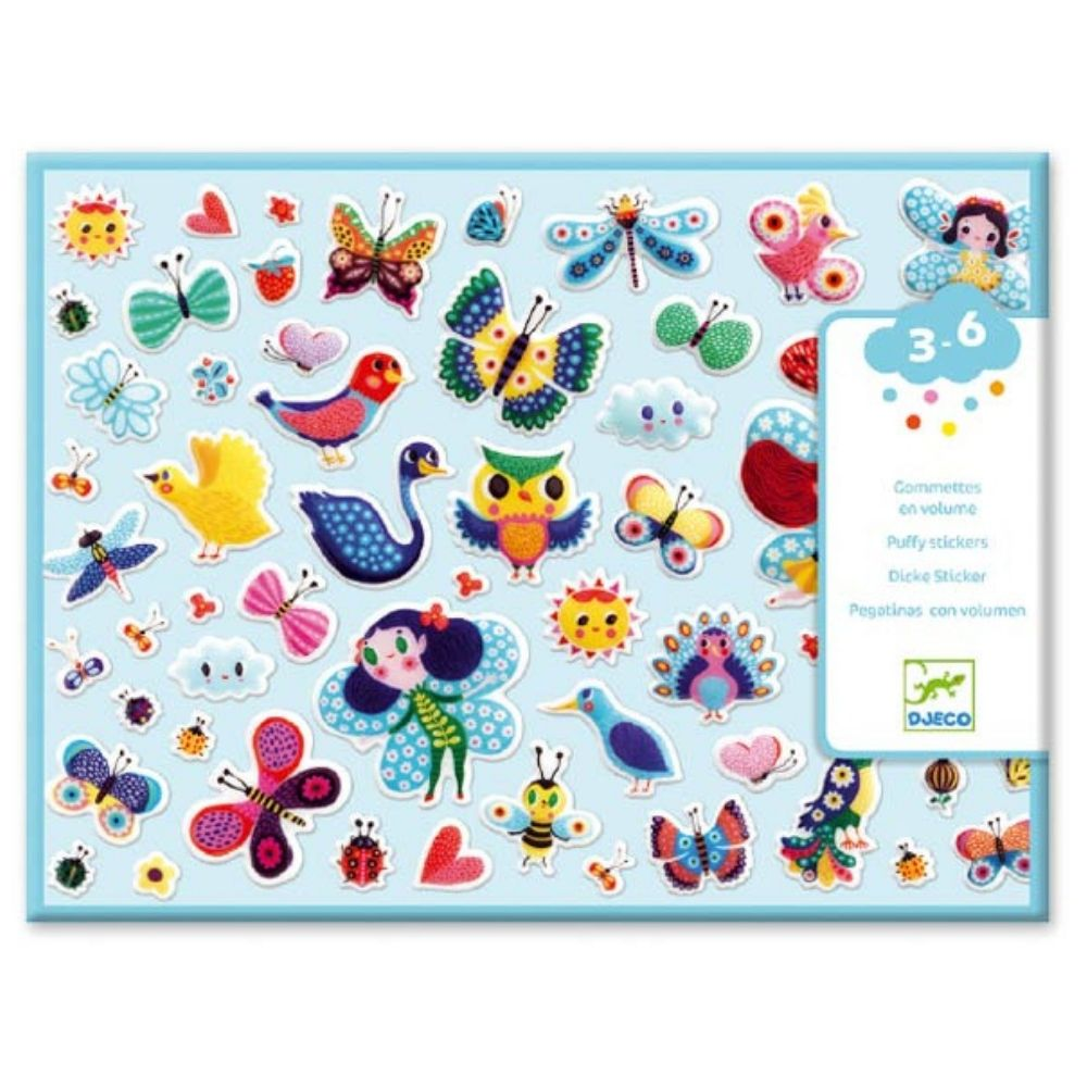 Djeco Toddler Puffy Stickers- Little Wings