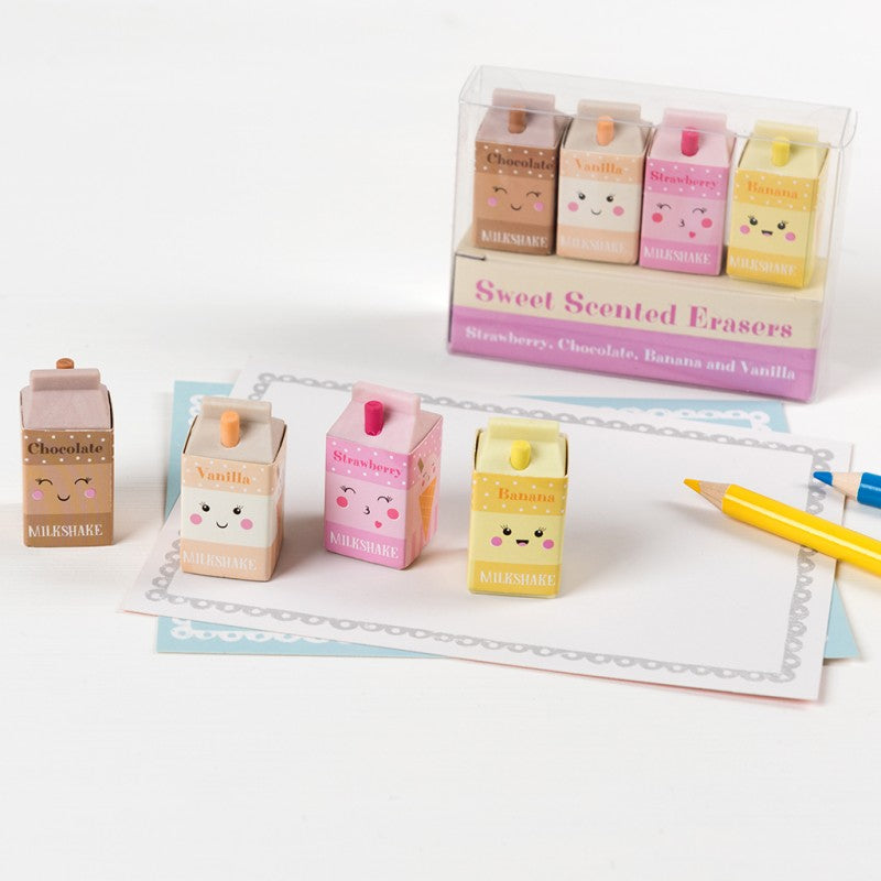 Rex London Scented Milkshake Erasers