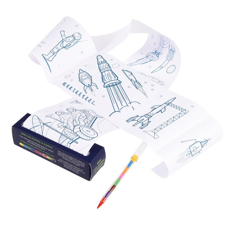Rex London Space Ace Mini Colouring & Games