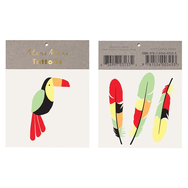 Meri Meri Toucan Tattoos