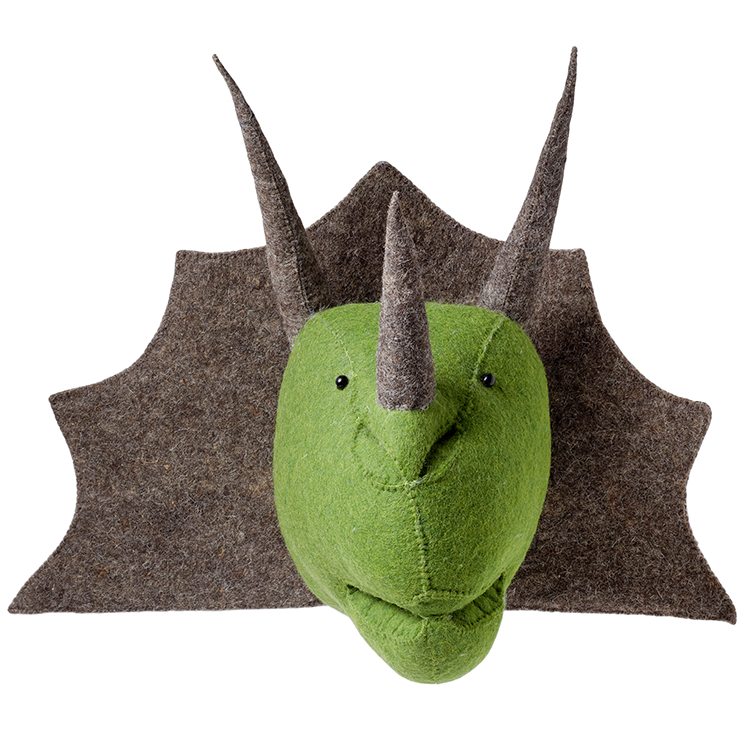 Triceratops Wall Mounted Animal Head
