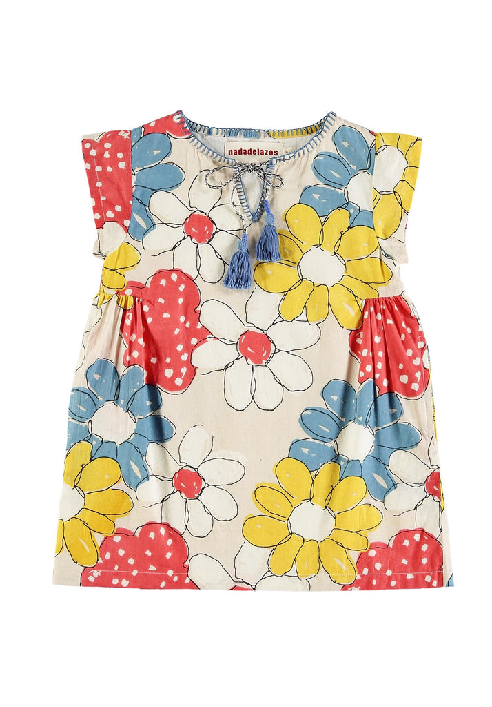 Nadadelazos Flower Tunic Dress