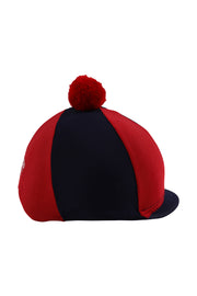 Helmet cover with Breeze Up logo (navy/red)