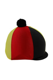 Helmet cover with Breeze Up logo (black/red/yellow)