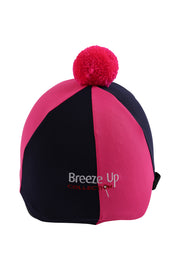 Helmet cover with Breeze Up logo (navy-pink)