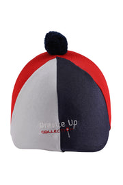 Helmet cover with Breeze Up logo (navy/red/white)