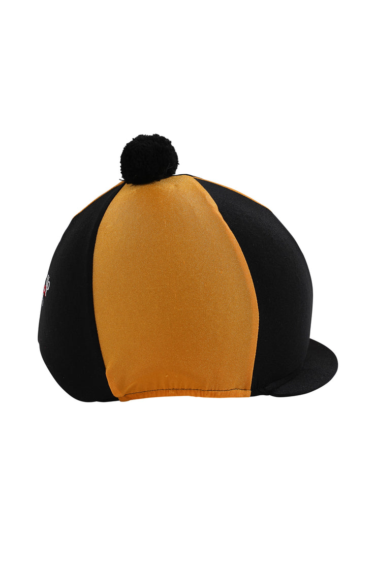 Helmet cover with Breeze Up logo (black/gold)