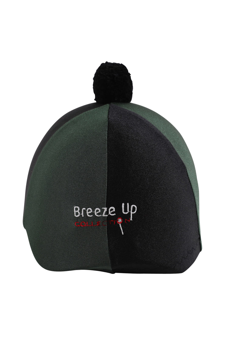 Helmet cover with Breeze Up logo (black/green)