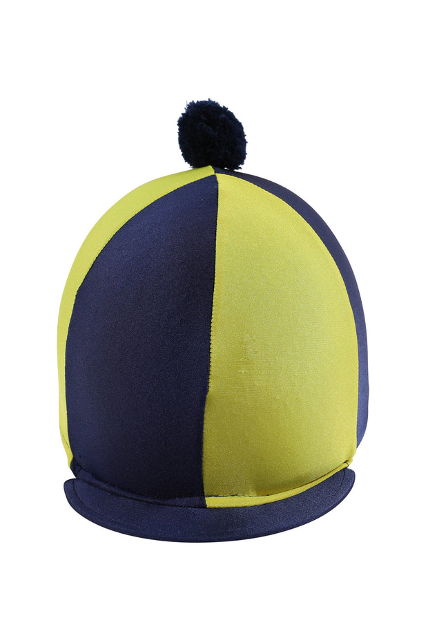 Helmet cover with Breeze Up logo (navy/yellow)