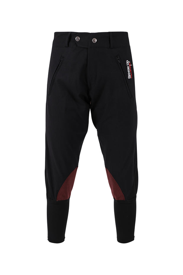 Exercise Breeches - unisex (black/claret-patches)