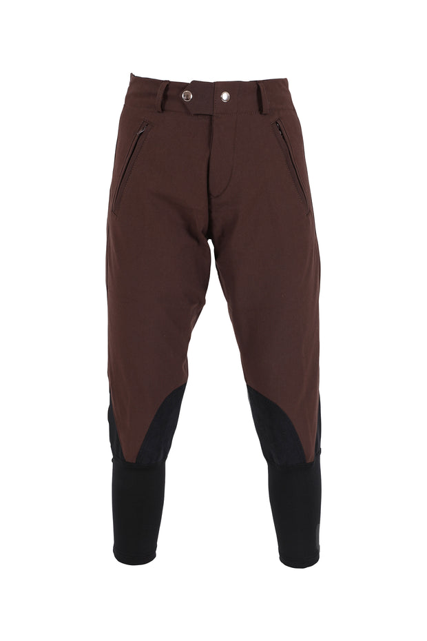 Exercise Breeches - unisex (chocolate/black-patches)