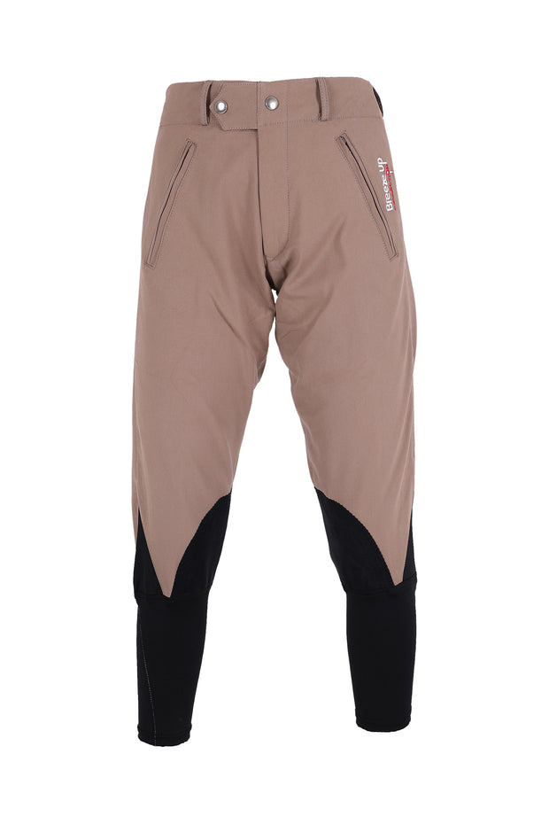 Exercise Breeches - unisex (light brown/black-patches)
