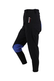 Exercise Breeches - unisex (black/blue-patches)