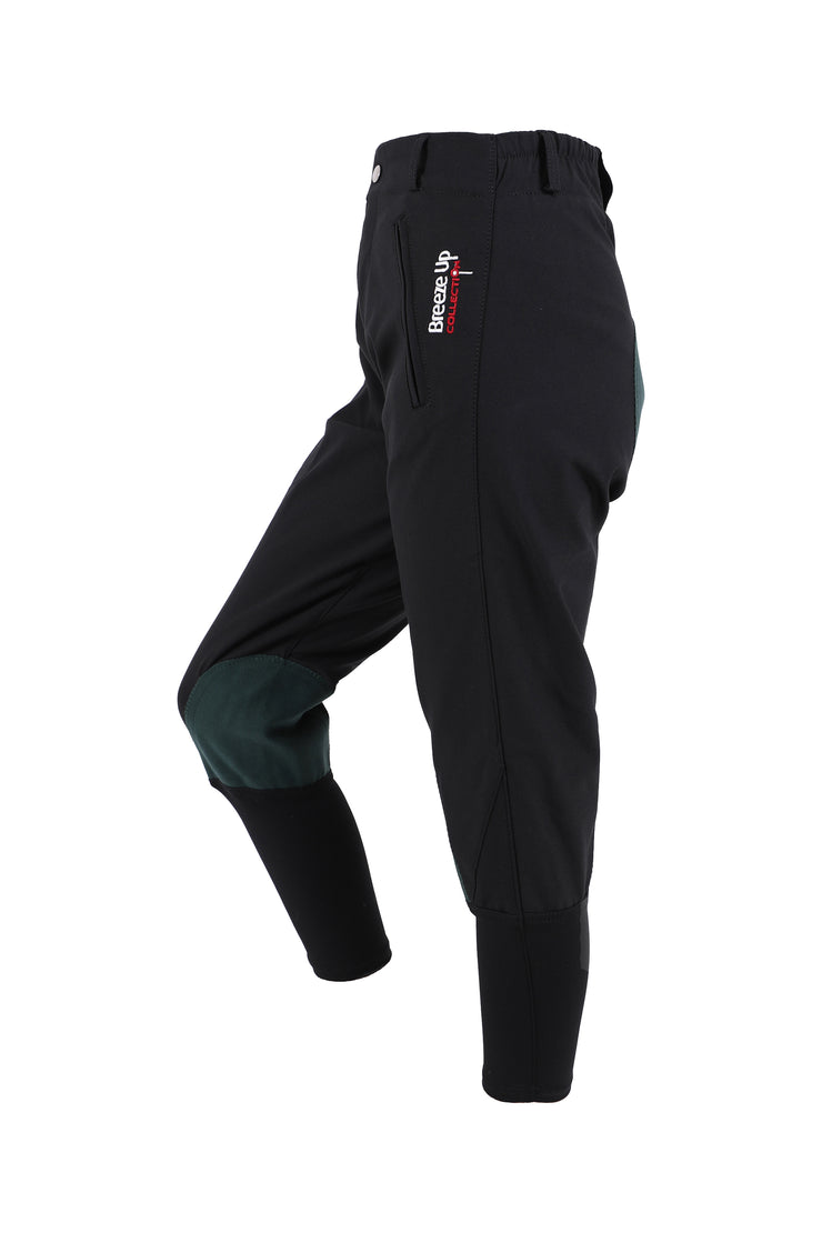 Exercise Breeches - unisex (black/green-patches)
