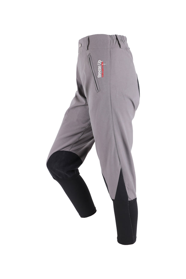 Exercise Breeches - unisex (grey/black-patches)