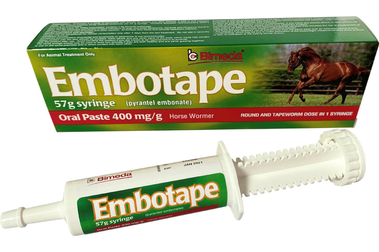 Equine wormer: Embotape x 2 (double dose)
