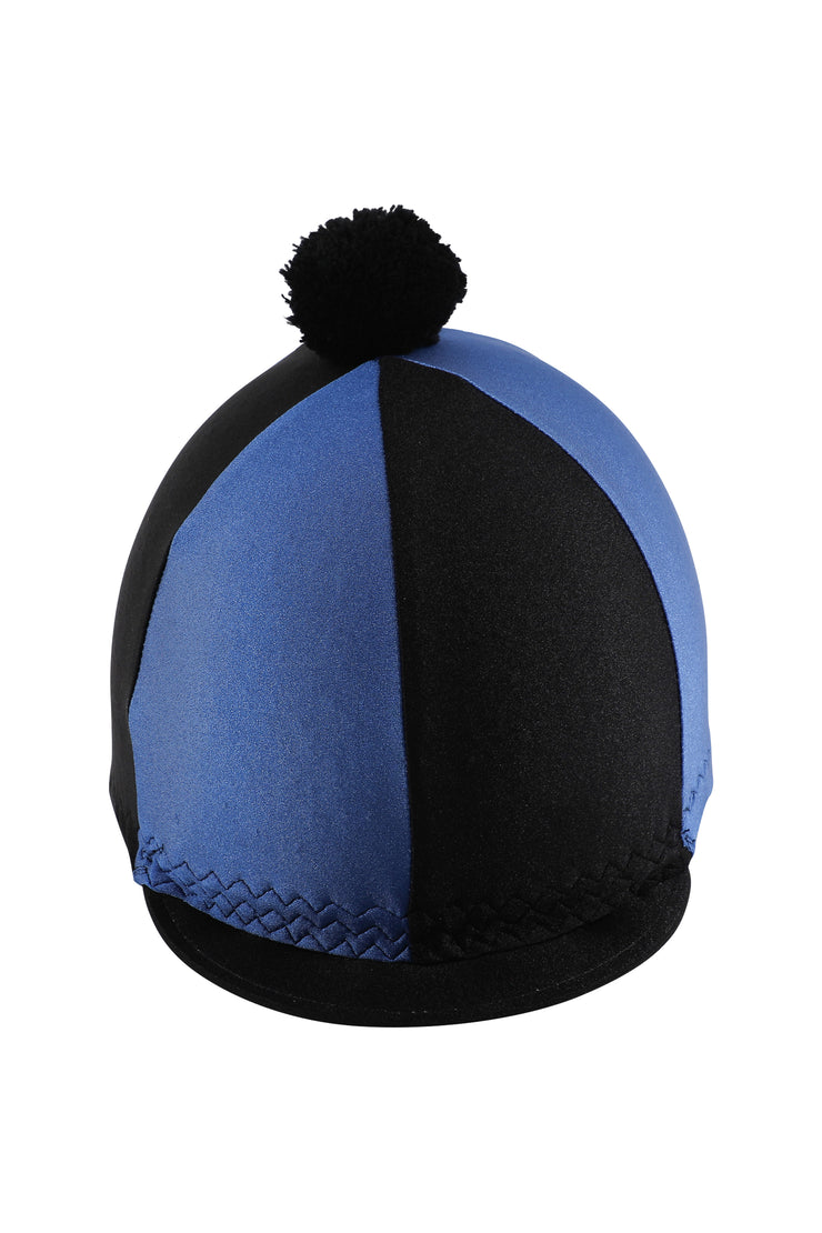 Helmet cover with Breeze Up logo (black/royal blue)
