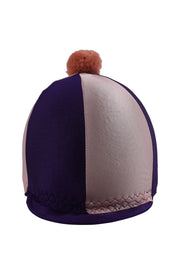 Helmet cover with Breeze Up logo (purple/pink)