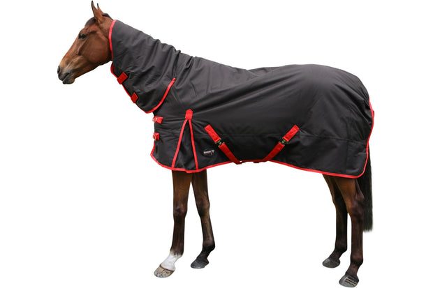 Rug: Turn Out - Full Neck/Combo (Black/red)