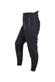 Waterproof breeches - unisex (black/black-patches)