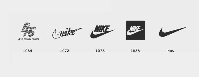 L'EVOLUTION DU LOGO NIKE