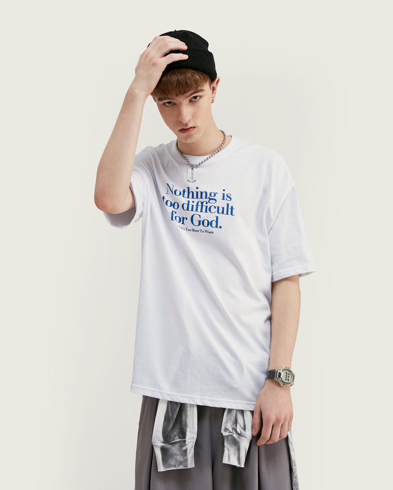 t-shirt oversize avec inscription