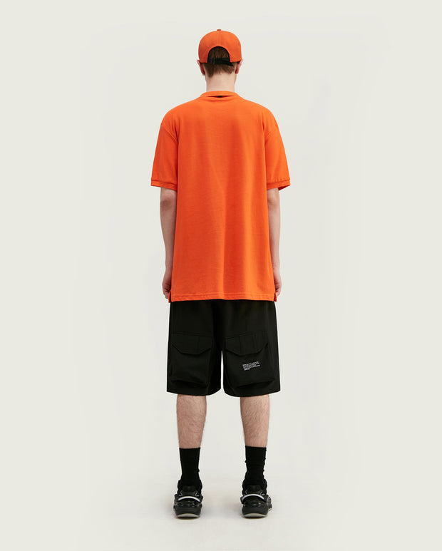 polo coton homme orange