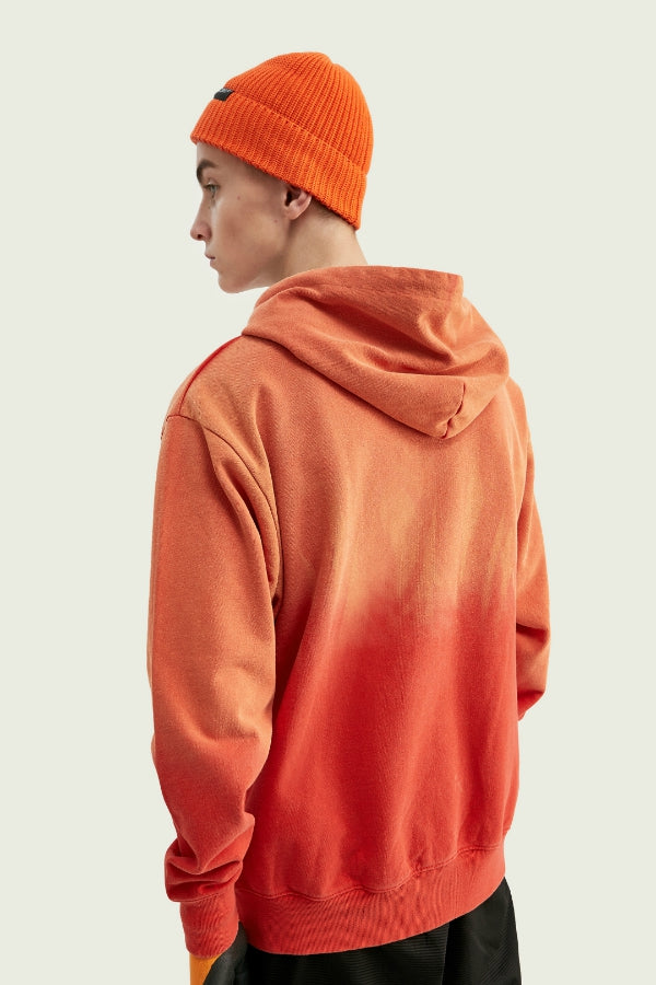 Sweat à capuche dégradé - Orange - Boutique Streetwear