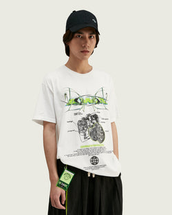 t-shirt hip hop blanc