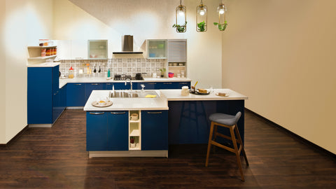 Blue Kitchen Cabinets | Crackpots