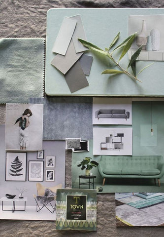 Interior Design Mood Board Green | Crackpots