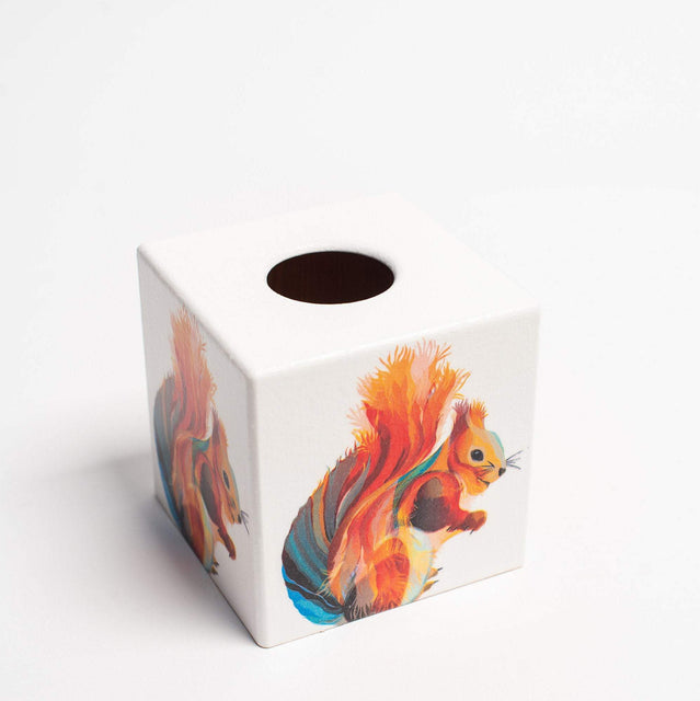 Rainbow Squirrel Tissue Box Cover