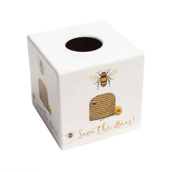 Beehive Tissue Box Cover - Handmade