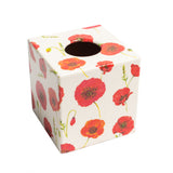 Red Poppy Tissue Box Cover - Handmade