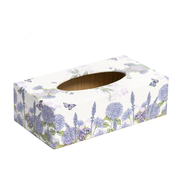 Lilac Floral Rectangular Tissue Box Cover