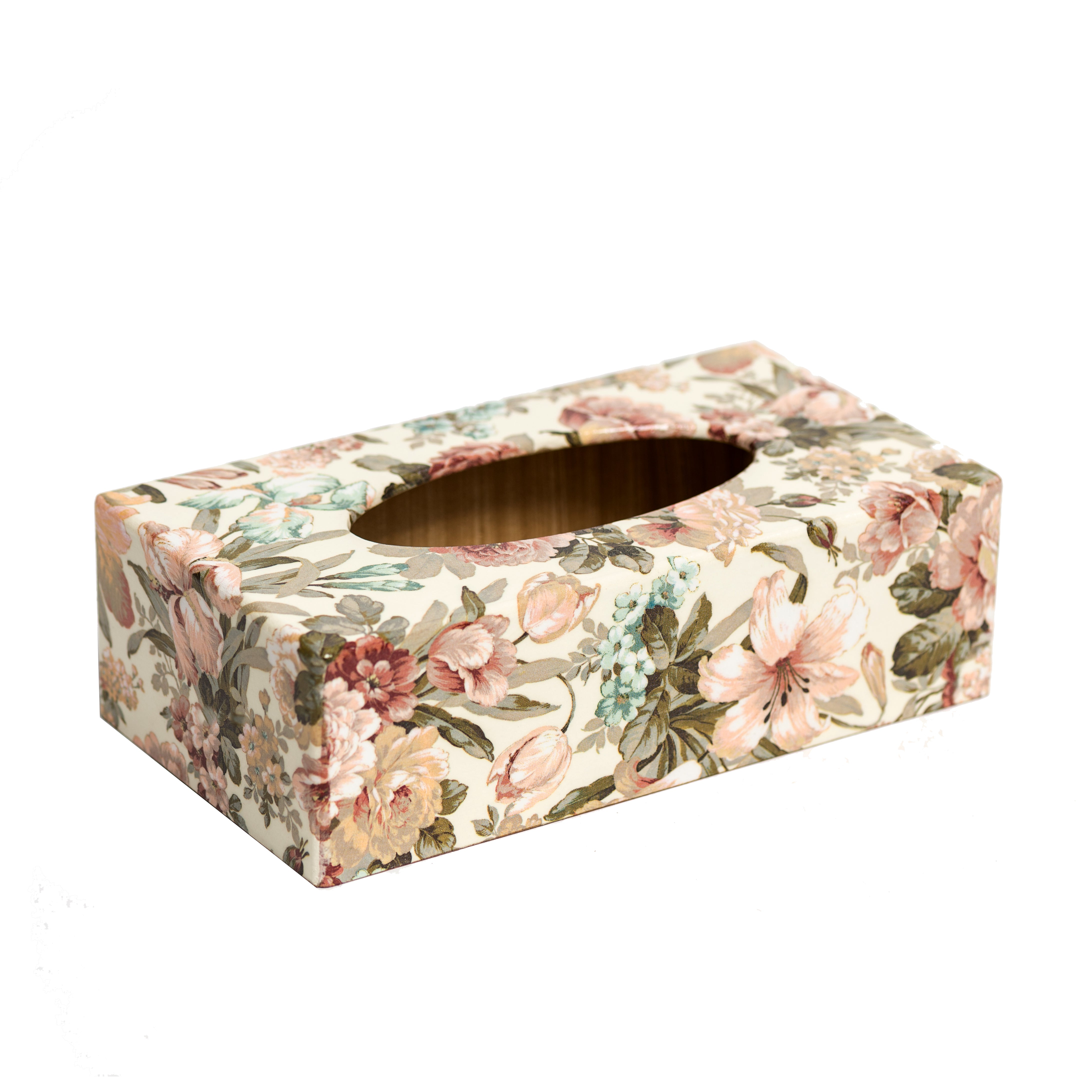 Vintage Floral Rectangular Tissue Box Cover