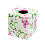 Sweetpea Tissue Box Cover wooden cube