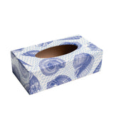 Blue Shell Rectangle Tissue Box Cover - Handmade