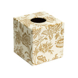gold foliage tissue box cover