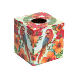 Parrot wooden Tissue box cover