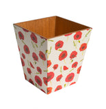Red Poppy Waste Paper Bin