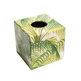 Green Palm Tissue Box Cover - Handmade