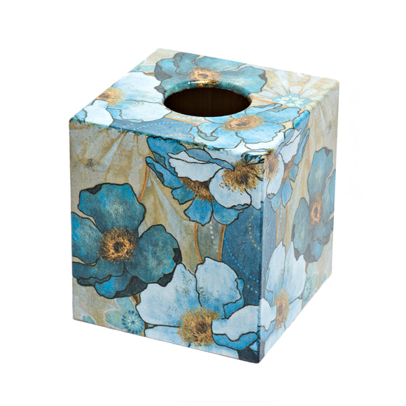 Blue Harmony Tissue Box Cover - Handmade