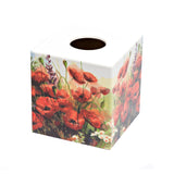 Poppy Fields Tissue Box Cover - Handmade