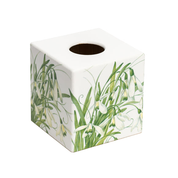 Snowdrop Tissue Box Cover - Handmade