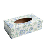 Blue Garden Rectangular wooden tissue box cover