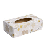 Silver Acorn Rectangular Tissue Box Cover
